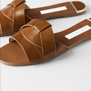 Zara leather slide